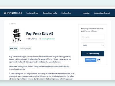 Business page jobboard logo minimal website webdesign brand ux ui aboutus business jobboard