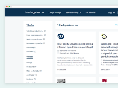Jobboard categories and location business minimal ux ui webdesign design website search jobboard