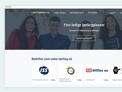 Jobboard landing page ui ux webdesign website interface landingpage frontpage jobboard