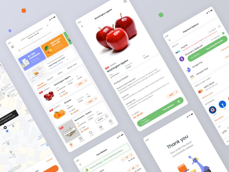 GroceryStoreApp mobile app design mobile app app design grocery online grocery store groceries grocery app grocery