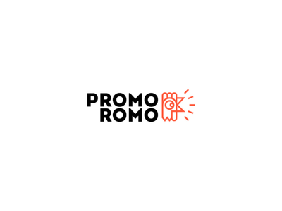 PromoRomo logo design minimal design illustration logo