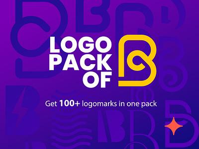 100+ Logos of letter B in one pack. graphic design minimal logo design concept symbol icon logo illustration vector design