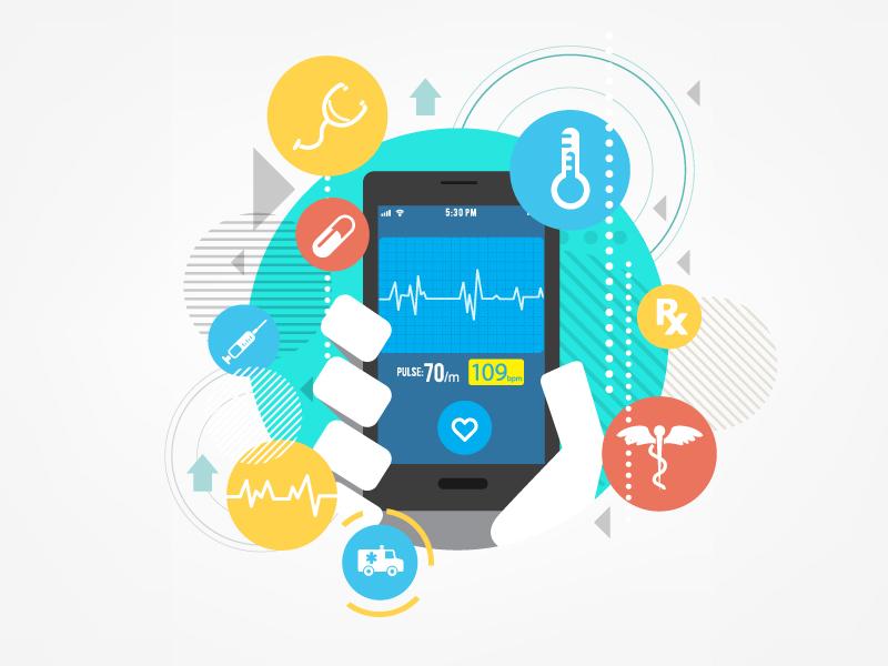 Medic Mobile medical ui smartphone color simplified design illustration tech vector