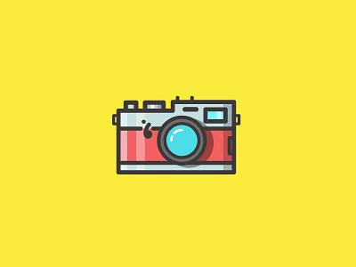 Camera flat graphic design design photography fujifilm retro symbol ui color icon
