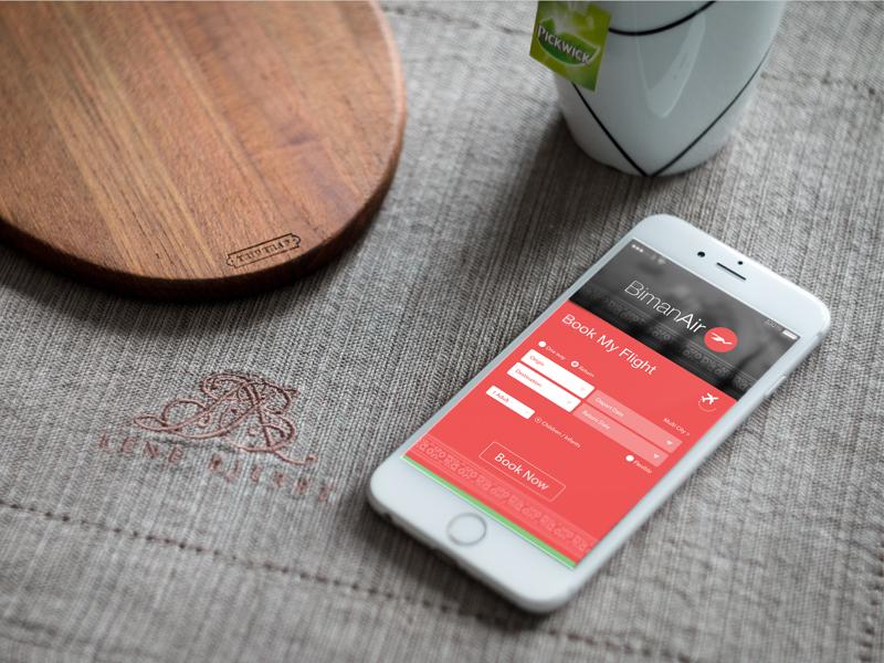 Biman Airlines App UI concept user interface interface design user experience app iphone idea concept ui
