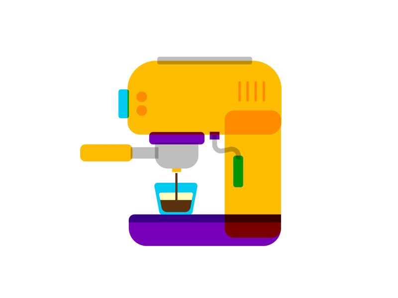 Espresso Machine 1 cafe machine symbol art design illustration icon vector shot coffee espresso espresso machine