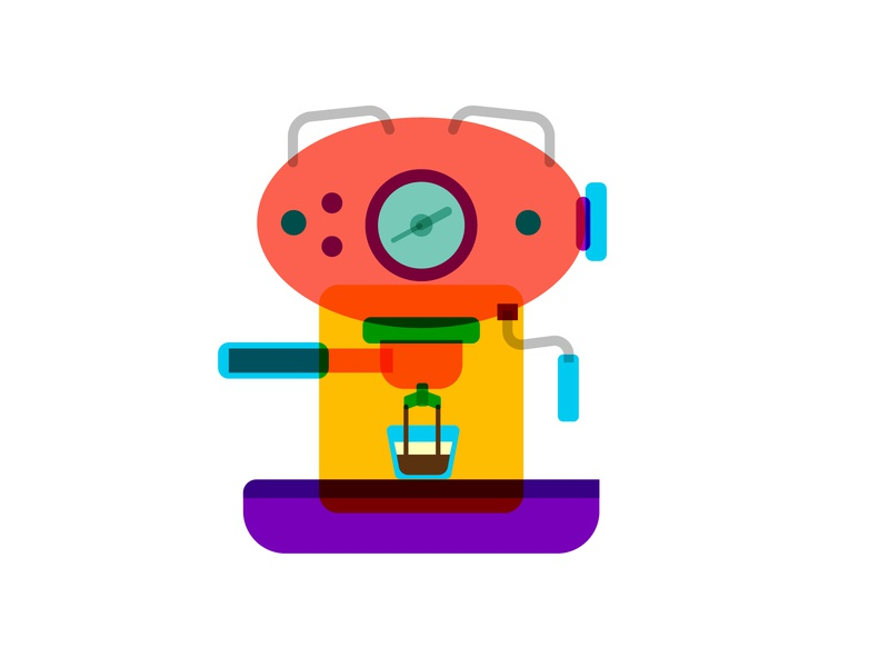 Espresso machine 2 machine art symbol icon vector design cafe coffee espresso espresso machine