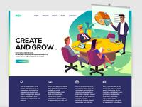 Illustration for Website banner