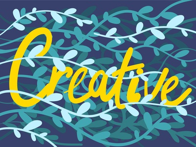 Creative ipad typography art typography nature illustration vector background creative