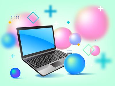 Vector design on Laptop