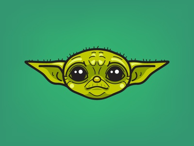 baby yoda in color movie character funny cute cartoon illustration character design character vector starwars star wars baby yoda baby yoda