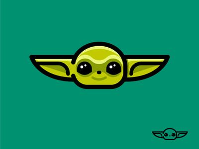 Baby Yoda icon illustration minimal cute vector icon cartoon star wars starwars baby yoda baby yoda
