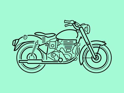 classic bike graphic design minimal art concept symbol logo design line art vector illustration sign icon bike