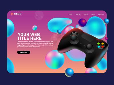web gaming color vector illustration console vector art gaming vector web
