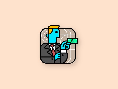 money guy logo design concept symbol logo icon line art logo line art minimal illustration vecor money