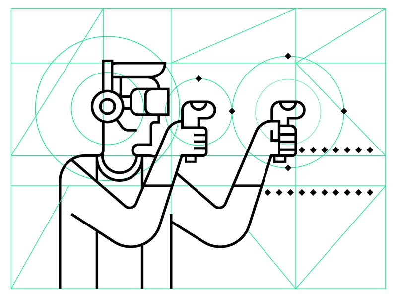 Virtual Reality design lineart line art art icon minimal design illustration vector virtual reality virtualreality vr