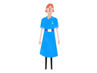 Nurse illustration character design animation 2d