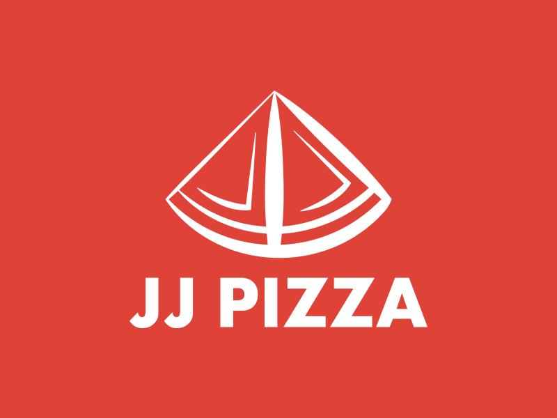 JJ Pizza Logo pizza thirtylogos jj pizza day 13 pizzeria restaurant food red j