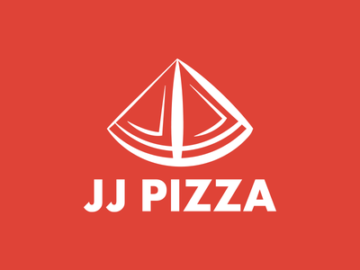 JJ Pizza Logo pizza thirtylogos jj pizza day 13 pizzeria restaurant food red j