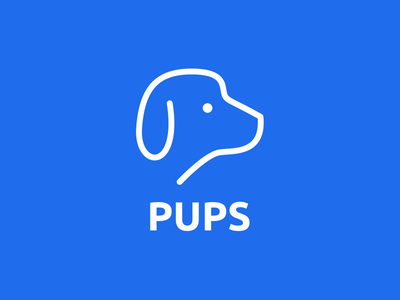 Pups Logo logo thirtylogos day 15 online service dogfood pet dog blue pups