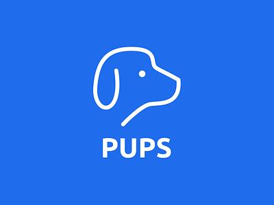 Pups Logo logo thirtylogos day 15 online service dogfood pet dog blue pups