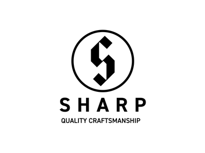 Sharp Logo thirtylogos s mark day 16 black blackletter s quality minimal knife sharp logo