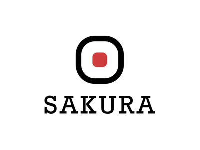Sakura Logo red thirtylogos sushi bar restaurant day 18 logo sakura