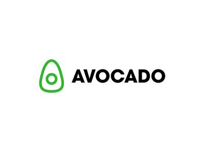 Avocado Logo smart grocery shopping app green avocado design modern mark challenge online minimal thirtylogos logo