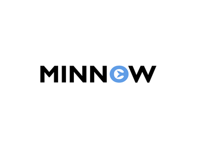 Minnow.tv Logo modern website streaming service blue minnow.tv minnow minimal logo