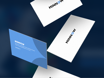 Minnow.tv Business Cards minnow minnow.tv streaming service website modern blue graphic design minimal logo cards business cards