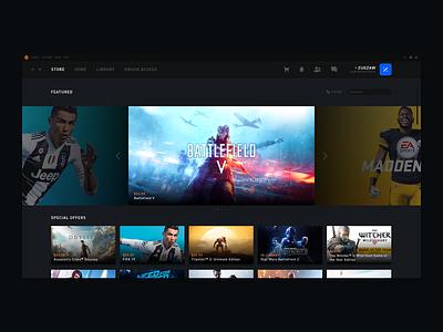 Origin - Store redesign design ux ui design ux videogames gaming origin oragne ui