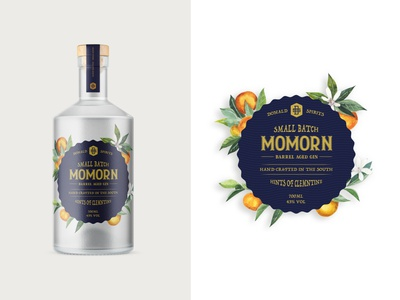 Momorn Gin logotype labels label packaging badge logo drink label drink alcohol packaging alcohol branding label design label packaging box design packaging design branding design branding