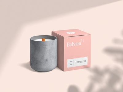 Belvien Candle Store Packaging package design visual identity skincare cosmetics luxury brand identity box design label design organic packaging design adobe illustrator adobe photoshop branding