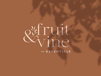 Fruit & Vine Essentials visual identity adobe illustrator adobe photoshop herbal organic skincare logo cosmetics logo logo design skincare cosmetics logotype logo branding design brand identity branding
