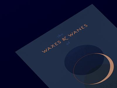 Waxes & Wanes of 2019 type art calendar illustration typography