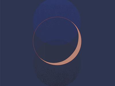 Waxes & Wanes minimal geometic moon astrology abstract illustration
