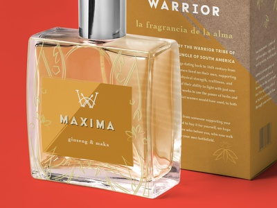 Warrior Fragrance Design lineart illustration typography packagingdesign packaging