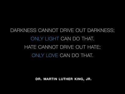 Remembering Dr. MLK Jr. minimal quote typography mlk