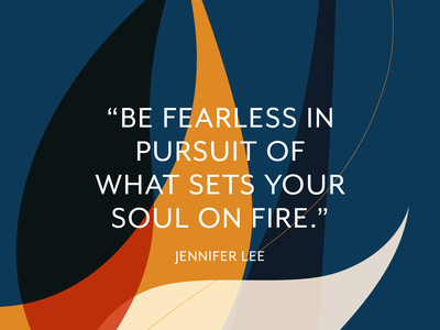 Be Fearless passion abstract typography quotes inspiration