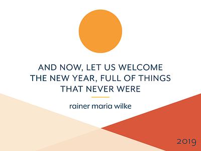 New Years Goals quote desiginspiration horizon minimal geometric