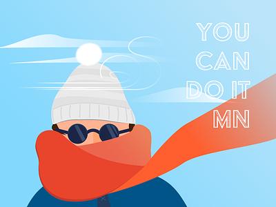 Polar Vortex Survival Mode girl minneapolis design typography illustration winter minnesota