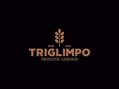 Triglimpo Logo patties homemade wheat food visual identity brand logo