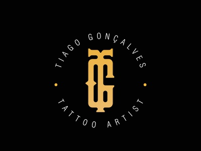 Dribble monogram logotype tattoo visual identity logo brand