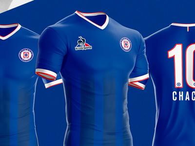 Cruz Azul FC Jersey by Le Coq Sportif sport blue sportif coq le azul cruz fútbol ligamx soccer jersey