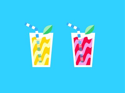 Pinky out summer drink character flat creative art web design risograph graphic design pattern illustrator design branding icon illustration vector logo color