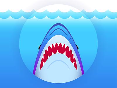Jaws jaws movie shark character flat creative art web design risograph graphic design pattern illustrator design branding icon illustration vector logo color