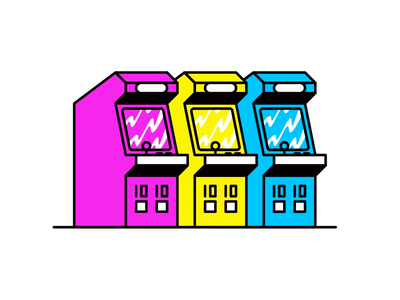 Arcade video games 90s arcade character flat creative art web design risograph graphic design pattern illustrator design branding icon illustration vector logo color