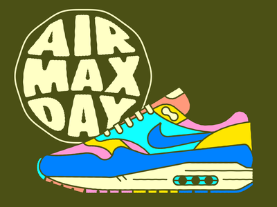 For Air Max Day (Natural) graphic design color art design shoe nike typography vector icon branding illustration