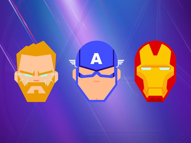 Avengers Endgame design art illustration character illustrations mcu thor captain america iron man icons marvel avengers endgame