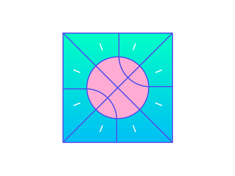 NBA flat creative character art animation app 3d web design ui graphic design pattern illustrator design branding icon illustration basketball vector logo color